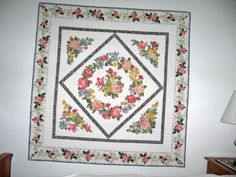 My quilt Broderie Perse Roses