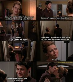 haley and nathan! pretty sure there he has Oreos on the bed
