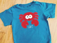 Children's Crab T-Shirt / Personalized Name Shirt /