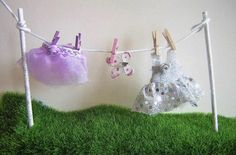 Fairy Washing Line Stepping Stones Fairy Garden Accessories Fairy Dresses Wings