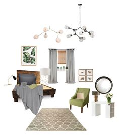 """bedroom"" by elenton on Polyvore featuring interior, interiors, interior design, дом, home decor, interior decorating, PBteen, Radiance, Barefoot Dreams и Design Within Reach"