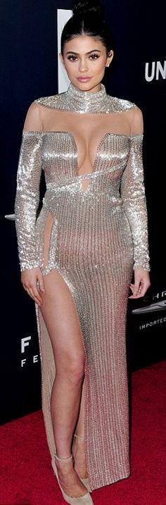 Kylie Jenner: Dress – Labourjoisie  Shoes – Jimmy Choo