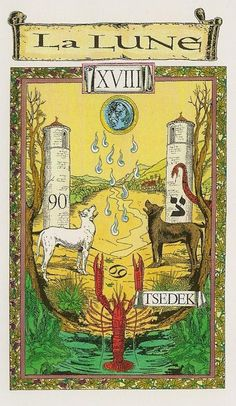 The Moon - Tarot des Templiers by Jean-Louis Victor, Willy Vassaux