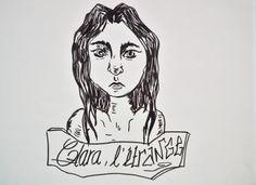 """""""Clara l'étrange"""" Feutre noir"""