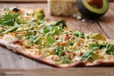 Avocado and Chicken Flatbread.
