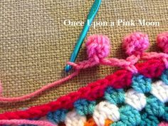 Once Upon A Pink Moon: Crochet Pom Pom Edge instrucrtions
