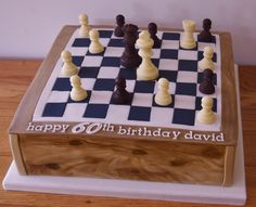 Chess Board Birthday Cake.