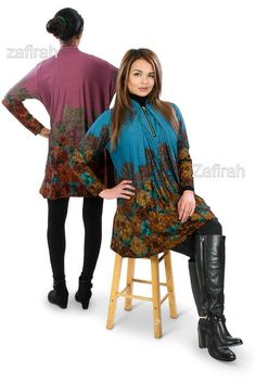 ce508d99887 Free Size Full Sleeve 100% Cotton Denim Tops Dress Tunic Shirt with Front  Zip #