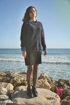 look-jupe-basket-classic-pull - zonedachat. Nouveau Look, Ootd, Julie, Basket, High Neck Dress, Classic, Dresses, Fashion, Classic Chic