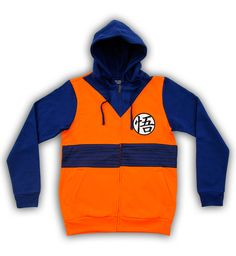 Goku, you rock!  Dragon Ball Z lovers will appreciate this officially-licensed Dragon Ball Z Goku Symbol Orange Costume Adult Zip Up Hoodie Sweatshirt.   Whether you're just looking for a legit Dragon Ball Z hoodie to wear around the house or out at night to keep warm, or you're doing some kind of crazy, awesome, Dragon Ball Z DIY Halloween costume, this is it.