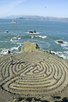 Walking the Labyrinth ─ A meditation labyrinth located at Land's End Park in San Francisco, California.