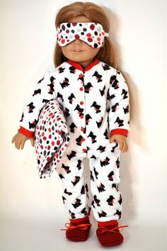 Items similar to 18 inch Doll Clothing fits American Girl Doll pieces on Etsy American Girl Doll Pajamas, American Doll Clothes, Ag Doll Clothes, Doll Clothes Patterns, American Clothing, Dress Patterns, American Dolls, Doll Patterns, Clothing Patterns