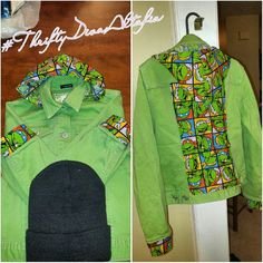 Kid's #tmnt denim jacket... Kid's #tmnt denim jacket...beanie included!! Very unique...made for a girl. Have your kid turn heads down the hallway in this #oneofakind jacket.. GAP Jackets & Coats Jean Jackets