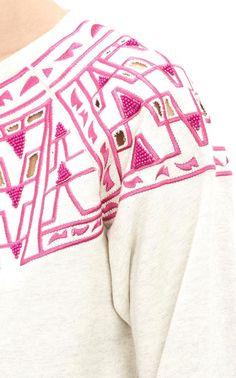 Embroidered Sweatshi     Embroidered Sweatshirt