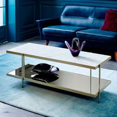 Box Frame Coffee Table Marble Top At West Elm Coffee Tables - Box frame coffee table marble top