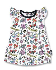 Six Bunnies cute flash baby dress tattoo alternative goth punk rock metal baby in Baby, Clothes, Shoes & Accessories, Girls' Clothing (0-24 Months) | eBay