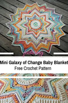 To Work Star Shaped Blanket Crochet Pattern With A Stunning Design This Awesome Mini Galaxy Of Change Baby Blanket Free Crochet Pattern Is Simply Stunning!This Awesome Mini Galaxy Of Change Baby Blanket Free Crochet Pattern Is Simply Stunning! Motif Mandala Crochet, Crochet Motifs, Crochet Flower Patterns, Afghan Crochet Patterns, Crochet Flowers, Crochet Stitches, Crochet Afghans, Crochet Baby Blanket Beginner, Crochet Stars
