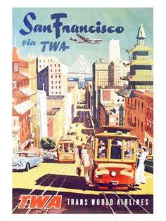 san-fransisco-twa-air-travel-poster-1950s by nostalgicphotosandprints, via Flickr