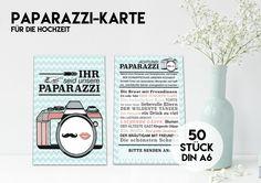 Hochzeitsalben - 50 PAPARAZZI KARTEN für Eure Hochzeit MINT - ein Designerstück von KleineFabrik bei DaWanda