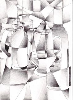 cubism still life by riartha on deviantART. Would make a great drawing assignment Cubist Drawing, Cubist Art, Object Drawing, Drawing Projects, Drawing Lessons, Art Projects, Still Life Drawing, Still Life Art, Picasso Still Life