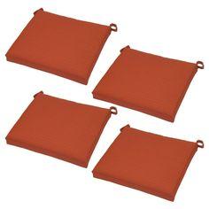 Belvedere 4pk Side Dining Chair Cushions Orange - Threshold
