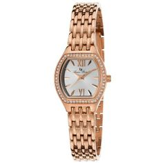 Lucien Piccard Clausis 12124-RG-22S mm Gold Plated Stainless Steel Case Gold Plated Stainless Steel Mineral Women's Watch | WatchCorridor