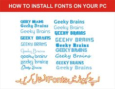 Install fonts in your Computer Download fonts. Open the font folder. Right-click on the font file click on open. In the window that appears, click on the Install button. Fonts, Window, Tutorials, Button, Learning, Youtube, Designer Fonts, Windows, Studying