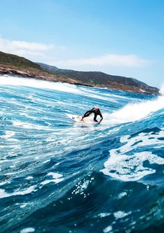 Surfing away!  Via Tumblr  #surfing #surf #ocean #waves