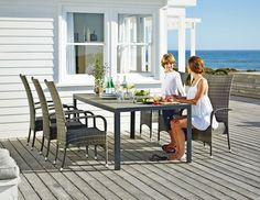SKAGEN tafel + 4 OSLO stoelen | JYSK #JYSK #Tuin #Tuinmeubelen