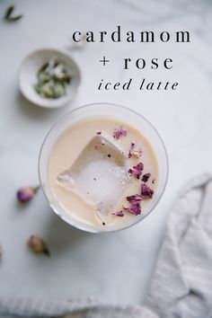 Cardamom + rose iced latte Recipe for Cardamom + Rose Iced Latte /// photo + styling by Beth Kirby Yummy Drinks, Healthy Drinks, Yummy Food, Healthy Recipes, Healthy Food, Delicious Recipes, Quick Recipes, Healthy Eating, Tea Recipes