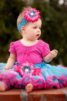 skirt Crochet Beanie headband hair bow clips baby girl 6colors  . . .