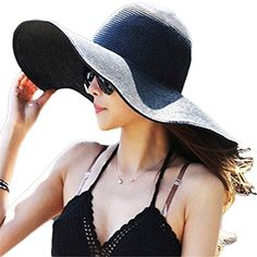 Summer Large Brimmed Hat Sandbeach Sunscreen Straw Hat Cap Black foreveryang http://www.amazon.com/dp/B00U8929RA/ref=cm_sw_r_pi_dp_YafMvb1E9B44J