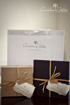 Beautiful wedding photography packaging