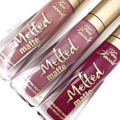 Too Faced Melted Matte lipsticks- I bought a dark Too Faced Liquid Matte the other day and I loved it.