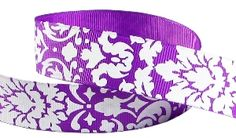 "7 Yds Purple Circle Dizzy Dots Blue or Lavender Purple Grosgrain Ribbon 5//8/""W"