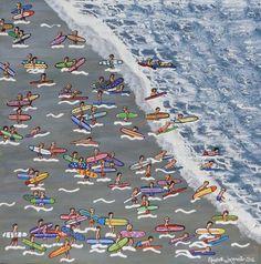 "Saatchi Art Artist Elizabeth Langreiter; Painting, ""Surfers Corner"" #art"
