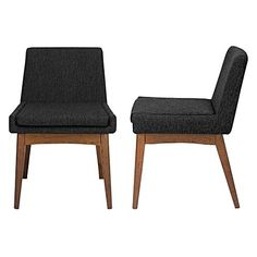 Embrace retro-contemporary styling and sit in comfort with the Evy Liquorice Dining Chair (Set of 2) from Jason Agustina.