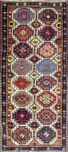 Antique caucasien Moghan Kazak 3 5 x 8 par Rugone sur Etsy
