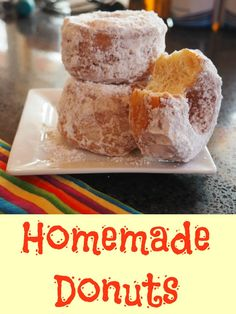 I recently tried making homemade donuts. It was a lot of fun. The dough I used did require three rises but it the end result was worth it - they were yummy. Great Recipes, Snack Recipes, Dessert Recipes, Snacks, Drink Recipes, Desserts, Delicious Donuts, Yummy Food, Big Donuts