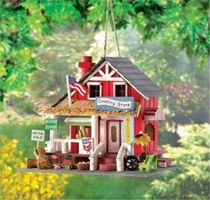Bird House Old Time Rustic Country Store Birdhouse  picclick.com