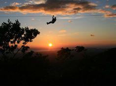 Superman Zip Line under Stars in Costa Rica