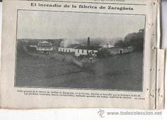 RECORTE DE PRENSA. AÑO 1906. INCENDIO DE LA FABRICA DE CERILLAS DE ZARAGÜETA.EN LA CORUÑA.