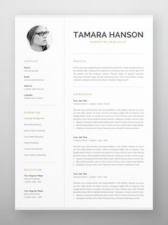 Clean, modern and professional resume design. Easy to use and fully customizable, including headings or colors. Includes resume, cover letter and references templates in US Letter and A4 formats. Available for Microsoft Word and Pages for Mac. One Page Resume Template, Modern Resume Template, Resume Templates, Cover Letter For Resume, Cover Letter Template, Letter Templates, Resume References, Summary Writing, Microsoft Word 2007