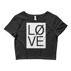 LØVE Women's Crop Tee, 2 variants - Swinly Designed by Swinly Enjoy worldwide shipping from the USA