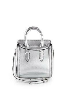 Loving Aexander McQueen's Heroine Metallic mini handbag!