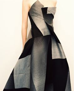 Donna Karan. Great geometric for a Winter, but must have large scale proportions.