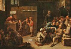 Joos van Craesbeeck - A School Interior