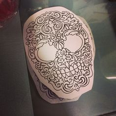 Sugar skull, shoulder tattoo