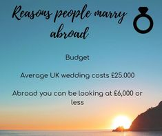 @scentsandsinners posted to Instagram: The budget, yes the budget for the wedding is a lot cheaper, one thing to consider though is the costs for guests. . Who do you want there and can they afford it. .  #bride #bridestobe #brideideas #bridesinspiration #bride2be #bridetobe #brides #groom #groomandbride #destinationwedding #destinationbride #destinationbridetobe  #engaged #weddinginspiration #weddingplanning #weddingplanner #gettingmarried #shesaidyes #weddings #marriage #futuremrs… Wedding Planner, Destination Wedding, Married Abroad, Wedding Costs, Getting Married, Budgeting, Brides, Groom, Marriage
