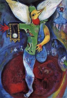"""""""Le jongleur"""" (1943; """"The Juggler""""), by Marc Chagall. Oil on canvas; Private collection."""